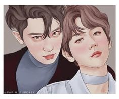 Image discovered by ωαffℓєє&c❀ffєє. Find images and videos about exo, baekhyun and chanyeol on We Heart It - the app to get lost in what you love. Baekhyun Fanart, Exo Chanyeol, Exo Chanbaek, Exo Couple, Find Image, We Heart It, Fan Art, Supreme, Infinity