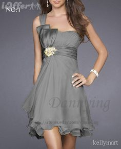 Silver Bridesmaid Dress Maybe with teal accents in jewelry?