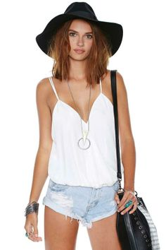 Nasty Gal Bubble Wrap Top