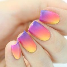 Do you guys love or hate the new Instagram logo? Either way, it serves as some pretty good nail art inspiration  full tutorial for this gradient look will be up on my channel later today ❤️ #instagram #myinstagramlogo