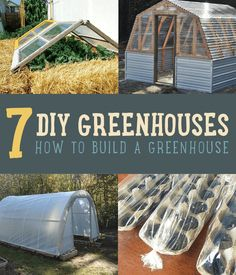 Want to learn how to build a greenhouse? We've been inspired by several greenhouses so have it in your plans to get the supplies for your diy greenhouse.