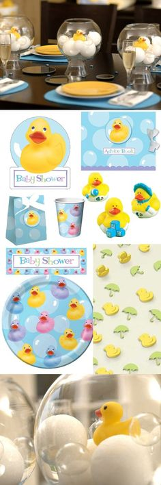 Rubber duck gender reveal party idea. Change some things around to pink and blue ducks. But I like the decoration idea