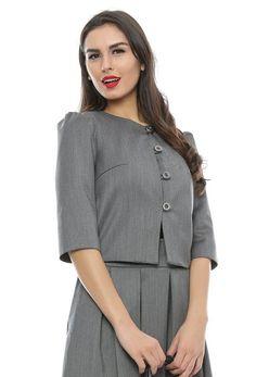 Blazer dama Micheline Chef Jackets, Blazer, Fashion, Moda, Fashion Styles, Blazers, Fashion Illustrations