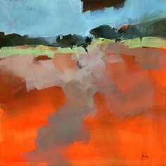 Original semi-abstract landscape painting - Early fall