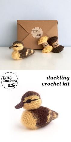 Complete crochet kit for a cute duckling. Makes a perfect gift for someone crafty, and eco-friendly too!