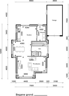 Bungalow, Beautiful Homes, Sweet Home, Floor Plans, House Design, House Of Beauty, House Beautiful, Architecture Design, House Plans