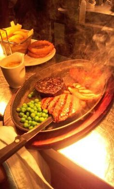 Stir Mixed Sizzler Grill served with all the trimmings.