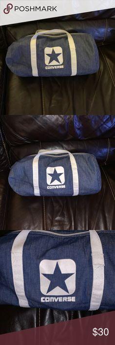 9e2ee39a86 Vintage Converse denim one star bag 16x12 Super cool Vintage Converse denim  one star bag 16x12