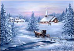 Peinture hivernale