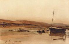 La plage à Tréport 1854