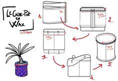 DIY cache-pot en tissu wax étape par étape Pots, Diy And Crafts, Homemade, Recherche Google, Branding, Haute Couture, Fabrics, Brand Management, Hand Made