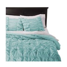 Rizzy Home Knots Texture Comforter Set - Teal ($280) ❤ liked on Polyvore featuring home, bed & bath, bedding, comforters, lite aqua, king comforter, queen bedding sets, king size comforter, twin comforter sets and king size bedding ensembles