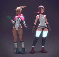 these are concepts for some characters im working on, they are just sketches to…