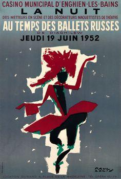 La Nuit au Temps des Ballets Russes, 1952. Paul Colin. Paper.