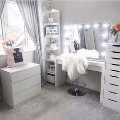 Sunday's. The perfect day for getting inspired and creating gorgeous beauty spaces. Loving this layout and use of IKEA furniture by . Use our VC Dividers – Medium size for both the – IKEA Alex 9 drawer divider per drawer) – Malm 3 d