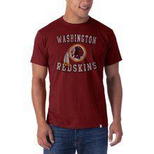 NFL Washington Redskins Men's '47 Brand Knockaround Flanker Tee - NFL T-Shirts and Hoodies at www.TeeShirtMadness.com
