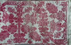 Embroidered mangle board cover from Transylvania
