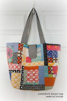 Patchwork Diaper Bag