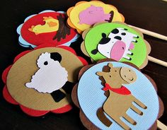 Barnyard Party  Down On The Farm  Cupcake Topper by ScrapYourStory, $1.00