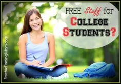 Here's a bunch of FREE stuff for college students! #freestuffforcollegestudents