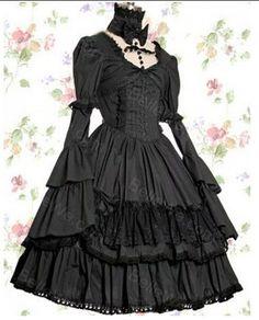 Высокого класса на заказ викторианской платье готическая лолита vestido дворец принцессы платье лолита косплей 0136