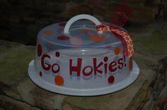 Virginia Tech Go Hokies Cake Carrier via Etsy