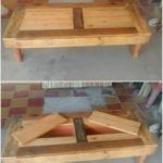 Pallet Table with Hidden Storage