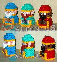 3D Nativity Three Kings perler bead sprite by Alfons05
