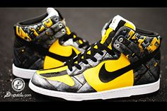 Bumblebee Dunks (customs) #sneakers