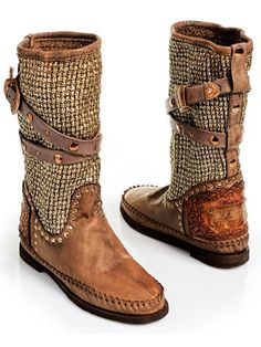 Karma of Charme Tricot2 Vintage Leather Boot