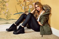 Cara Delevingne is Rock & Roll Glam for Topshops Fall 2014 Campaign