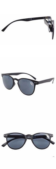 R060 Eyekepper Gray Lens Round Full Coverage Ultrathin Flex Frame Reading Glasses Sun Readers +0.50----+4.00