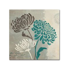'Chrysanthemums II' by Wellington Studio Graphic Art on Wrapped Canvas