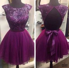 #short coctail dress sexy cocktails #fashion #violet dress ...PUSH and choose