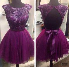 #short coctail dress sexy cocktails #fashion #violet dress ...PUSH and choose