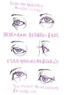 「「目の描き方を考える。」」/「toshi」の漫画 [pixiv]