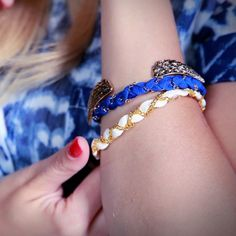 Ribbon and Chain Bracelets That Are Great For Stacking