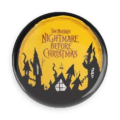 Nightmare Before Christmas Pin Back Button