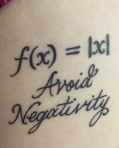 Math tattoo