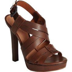 Bottega Veneta Cross Strap Sandal found on Polyvore