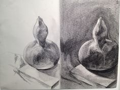 my pencil vs. charcoal study in ARST 1050