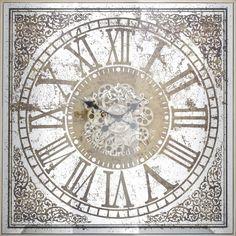 Ceas de perete patrat Richmond Owen H 82cm Richmond Interiors, The Ordinary, Rolex Watches, Clock, Retro, Accessories, Design, Vintage, Products