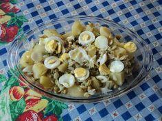 Receita de Salada de bacalhau rápida.