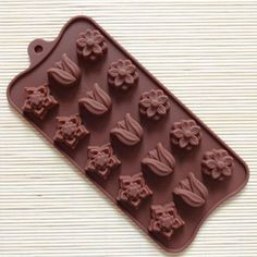 1 New Cake Mold Silicone Baking Pan Pizza Chocolate DIY Mould 15 Flowers