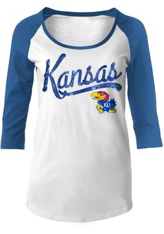 9c0ec946972 KU Jayhawks Womens Blue Athletic Long Sleeve Scoop Neck - 88881302