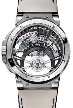 Harry Winston Ocean Tourbillon Jumping Hour Caseback - mens black watches with black faces, mens black watches sale, mens watches cheap