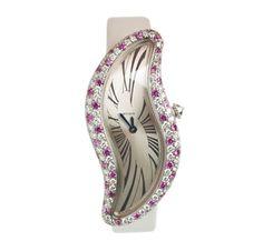 A Pink Sapphire and Diamond 'Crash' Wristwatch, by Cartier. Via FD Gallery, www.fd-inspired.com