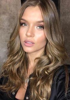 Josephine Skriver makeup and hair - Victoria's Secret Angel
