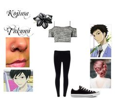 """""""Ouran OC"""" by imaginestronger ❤ liked on Polyvore featuring Boohoo, Converse and Colette Malouf"""