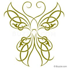 Green Celtic Butterfly Tattoo